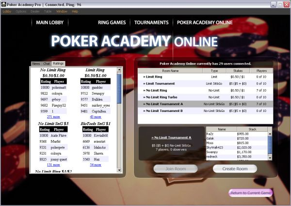 poker academy pro online