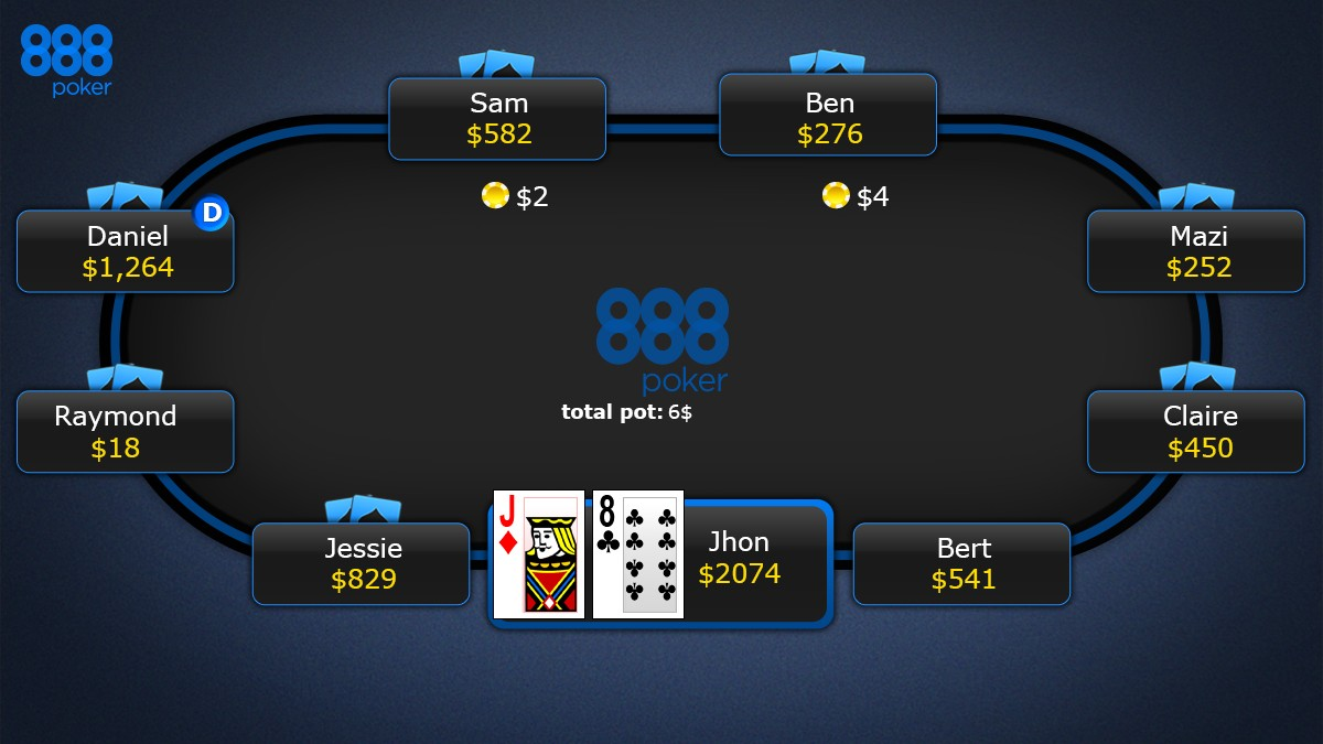 Poker texas holdem online 888